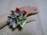 ニットで花。